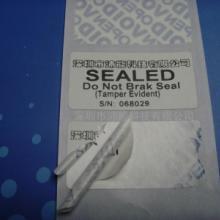供应用于外箱封口标签的合成纸易碎标签或公共资产防盗标签图片