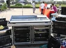 供应用于广州天河珠江新城舞台物料设备的专业星空幕布租赁舞台灯光音响展架