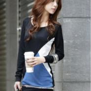 新款韩版女式连帽加绒保暖卫衣厂家图片