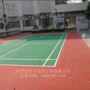 羽毛球场涂彩色漆图片