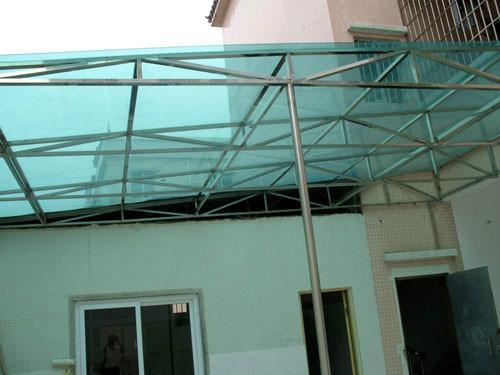 阳台雨棚屋顶防漏雨棚图片图片