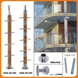 钢楼梯扶手图片/钢楼梯扶手样板图 (3)