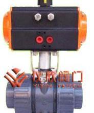 供应上海气动塑料球阀 气动塑料球阀 PVC气动球阀
