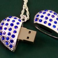 供应镶钻U盘心形珠宝U盘。