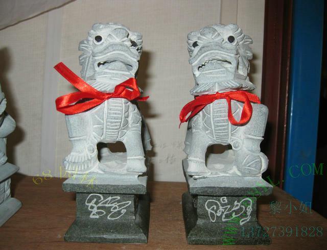 青石雕刻工艺品摆件麒麟销售