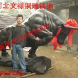 供应精美动物铜雕华尔街牛/铸铜开荒牛精美动物铜雕华尔街牛铸铜开荒牛