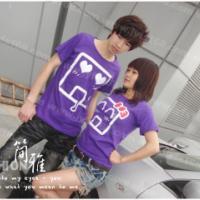 韩国长袖T恤情侣装夏装短袖情侣装