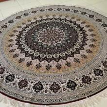 供应圆形地毯真丝地毯手工真丝地毯