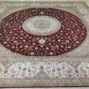 供应3乘3米正方形真丝地毯