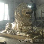 大型汇丰狮雕塑图片
