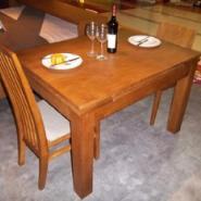 富尔康实木餐台椅/多功能实木餐桌图片