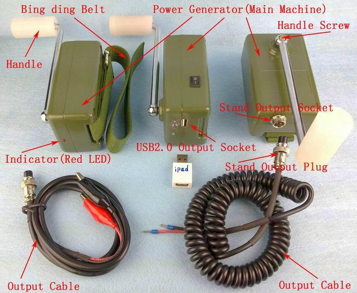 供应KON-30W手摇发电机