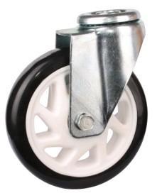 大量生产4寸定向轮PU工业脚轮图片/大量生产4寸定向轮PU工业脚轮样板图 (4)