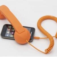 供应2012最新款炫黄复古手机听筒防辐射手机听筒