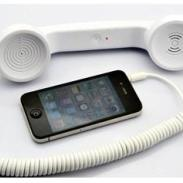 白色防辐射手机听筒图片