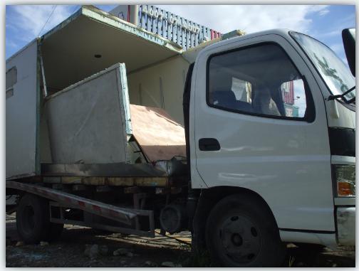 供应冷链玻璃钢车厢维修图片