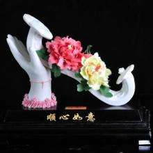 供应顺心如意瓷器礼品工艺品生产