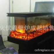 3面视窗观火景伏羲采暖壁炉图片