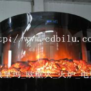 1米2高火焰壁炉设计定制图片