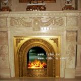 供应全铜奢华铸铜电壁炉