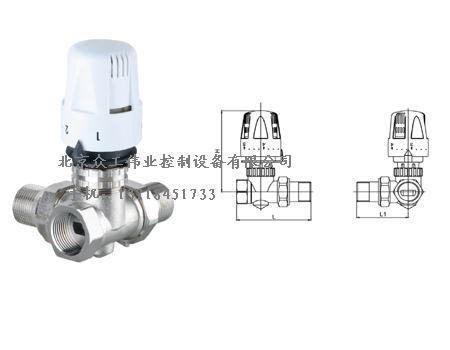 供应自动温控阀 暖气三通调节阀北京销售部图片图片