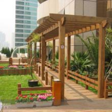 木栅栏制作绿化工程