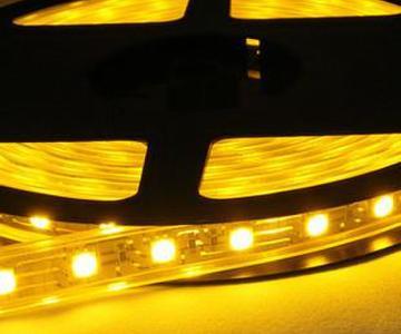 供应5050软灯条黄光一米60灯图片