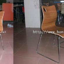供应新款高档不锈钢弯曲木/防火板/耐火板餐椅,连锁餐厅优质餐椅图片