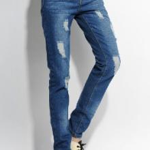 女式直筒牛仔裤子