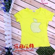 时尚个性潮流苹果钻女式T恤批发图片