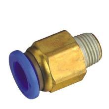 供应气动气管接头PC8-02螺纹直通气动气管接头PC802螺纹直通图片