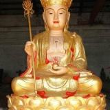 供应铜雕贴金地藏王,唐县铜雕佛像厂,2米铜雕地藏王,铸铜佛像