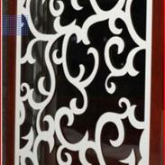 PVC雕花板屏风吊顶背景墙图片