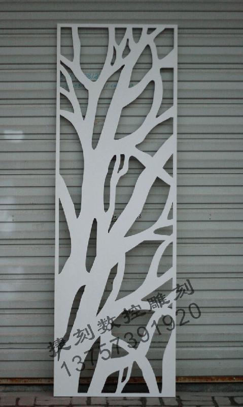 镂空雕花板背景墙 茶色玻璃雕花背景墙 茶镜雕花电视背景墙