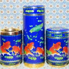 供应厂价直销景泰蓝杯具三件套批发