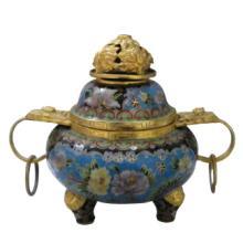 掐丝珐琅香炉/景泰蓝香炉/宗教用品/北京特色工艺品