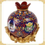 红榴福祉景泰蓝石榴瓶图片