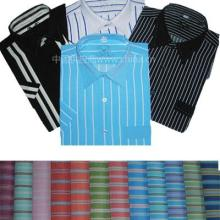 供应男式色织条纹短袖衬衫
