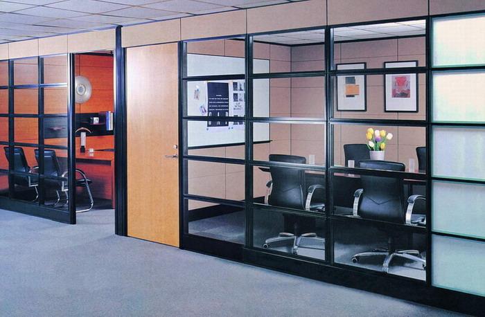 供應辦公室隔斷/屏風隔斷/玻璃隔斷圖片