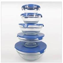 供应影楼礼品,商务礼品,玻璃保鲜碗,五件套玻璃保鲜碗批发