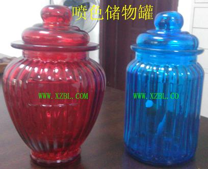 出口喷色喷漆玻璃储物罐生产厂报价