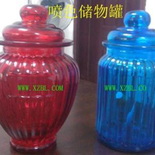出口喷色喷漆玻璃储物罐生产厂报价图片