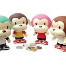 供应猴子储钱罐加工,咪兔、米熊储蓄罐加工,搪胶储钱罐加工