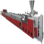 PE木塑型材挤出生产线图片
