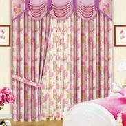 条纹双面印花窗帘遮光布批发供应商图片