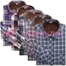 供应冬季保暖格子衬衫定做定制男士衬衫北京衬衫定做批发
