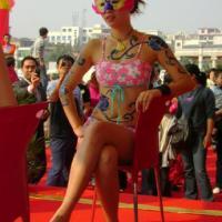 供应长沙彩绘模特公司 长沙彩绘内衣模特公司