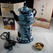 高档陶瓷电子熏香炉镂空香薰灯图片