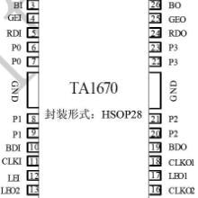深圳原厂天微led单双色显示屏集成驱动TA1670天微集成TA1图片