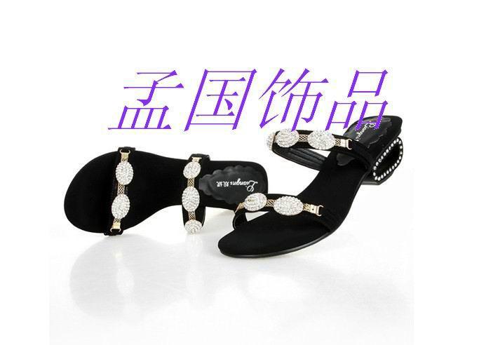 供应用于凉鞋装饰扣的优质时尚鞋花鞋链亚克力钻鞋链